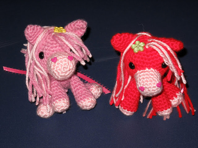 Crochet Valentine Amigurumi Ponies