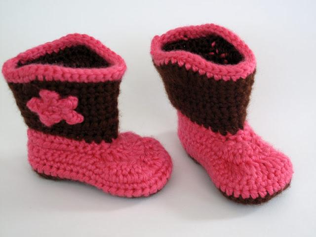 Crochet Cowboy Baby Booties
