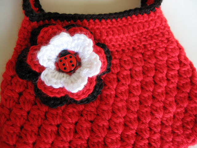 Ladybug Inspired Crochet Girls Purse