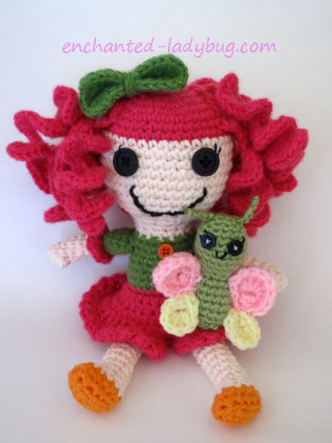 Free Crochet Butterfly Toy Pattern for lalaloopsy