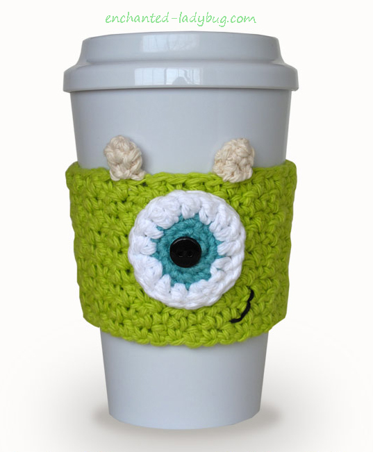 Free Crochet Monster's Inc. Mike Wazowski Cozy Pattern