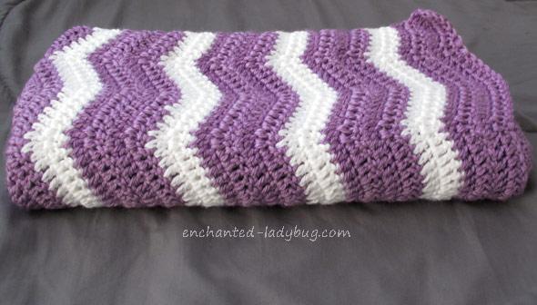 Free Crochet Ripple Baby Blanket Pattern