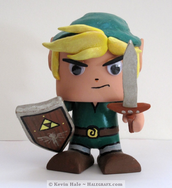 TLOZ The Legend of Zelda Link Colorblanks figure