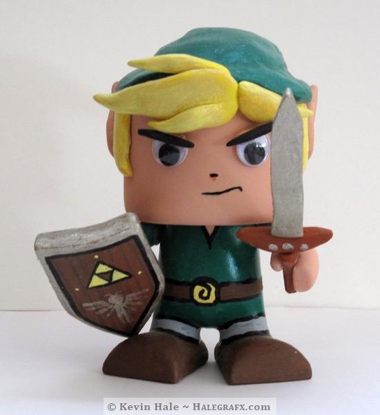 TLOZ The Legend of Zelda Link Colorblanks figure