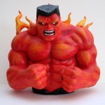 Custom Red Hulk statue