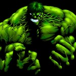 The Incredible Hulk in darkness Illustration