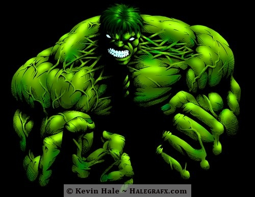 The incredible hulk in darkness - Avengers