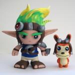Jak and Daxter Color Blanks Figures