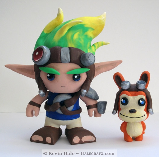 Jak and Daxter figures using Color blanks