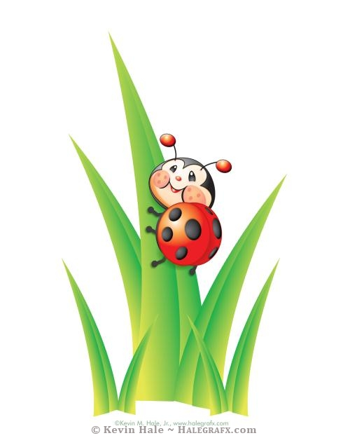 Libby the ladybug vector illustration