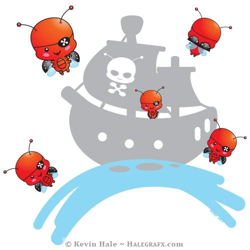 Kawaii Pirate ladybugs Attack!