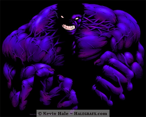 Incredible Hulk, the dark rage