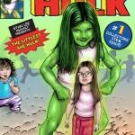 My daughter as She-Hulk comic Illustration