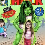 My daughter as She-Hulk comic Illustration