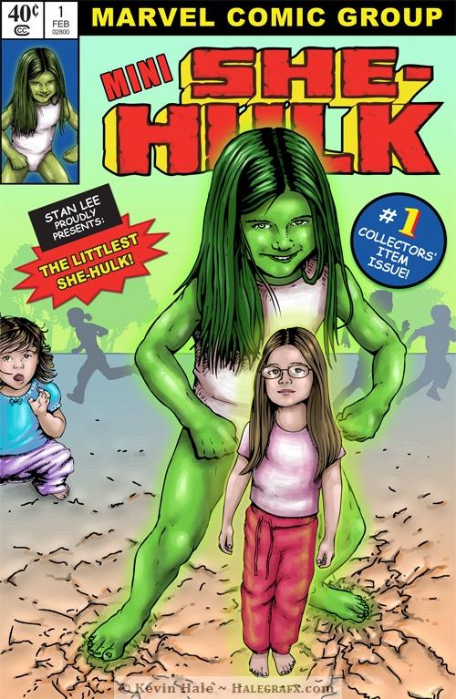 Mini She-hulk comic book cover