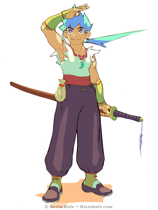 Ryu from Breath of Fire 4 on Playstation - Reference Artwork