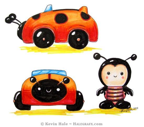 Color Blanks ladybug sketch