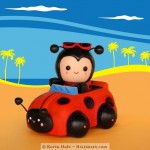 A Color Blanks Ladybug Out for a Summer Drive