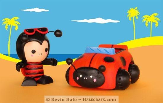 Color Blanks Ladybug figure at the beach!