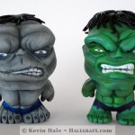 Green and Gray Hulk Color Blanks Figures