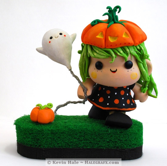 Little Pumkin Girl Color Blanks Figure
