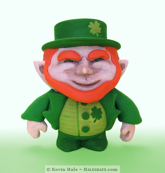 Finished leprechaun Color Blanks figure