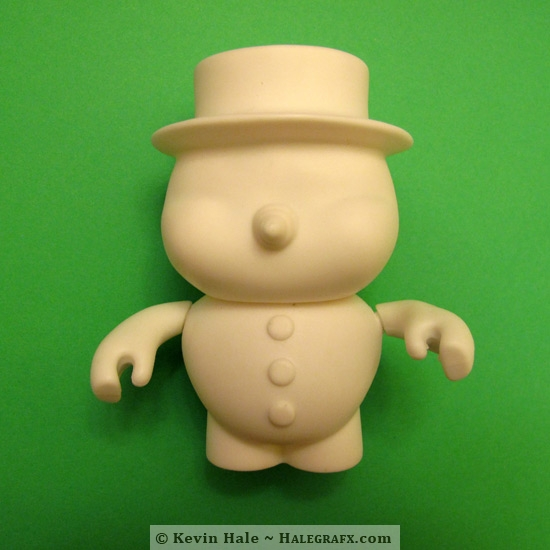 Snowman color blanks used to create a leprechaun Color Blanks figure.