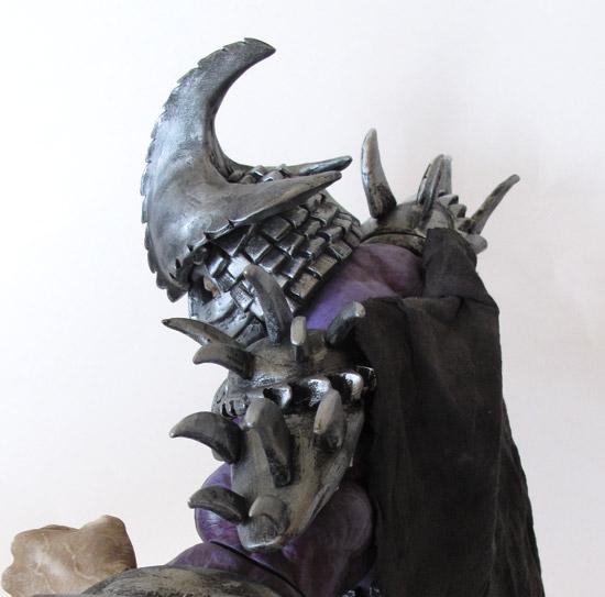 Custom Super Shredder using Hulk figure, polymer clay, spray and acrylic paint.