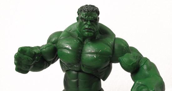 """2003 13"""" Hulk Figure used for Super Shredder"""
