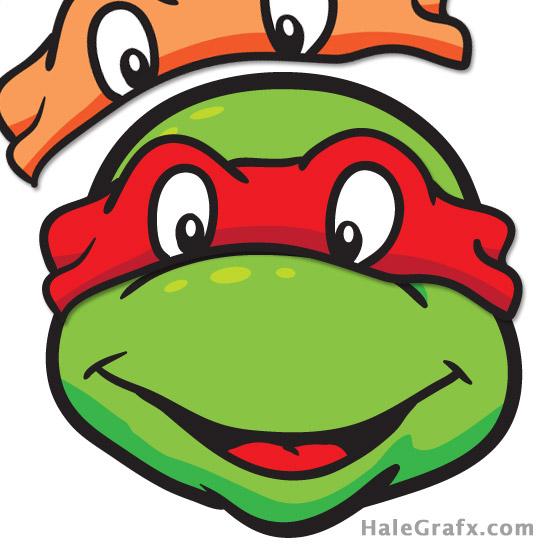 Pin the mask on the Teenage mutant ninja turtle - with masks