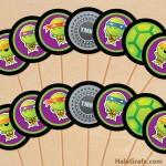 FREE Printable TMNT Ninja Turtle Cupcake Toppers