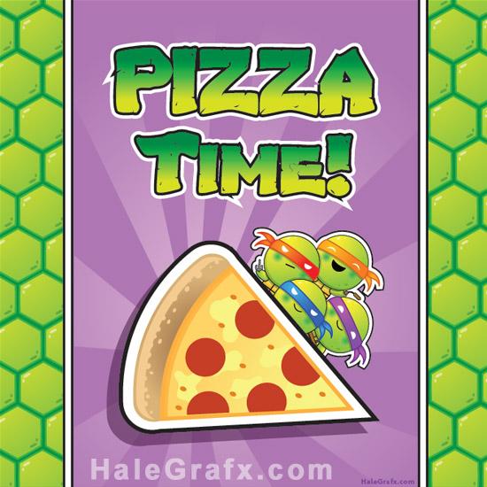 TMNT - Teenage Mutant Ninja Turtle Pizza Box Printable