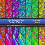 FREE Color Saturated Rock Digital Paper Pack
