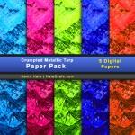 FREE Crumpled Metallic Tarp Digital Paper Pack