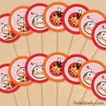 FREE Printable Ladybug Cupcake Toppers