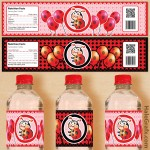 FREE Printable Ladybug Water Bottle Labels