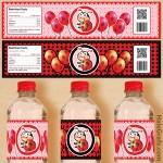 FREE Printable Ladybug Water Bottle Labels