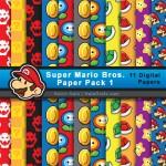FREE Super Mario Bros Digital Paper Pack
