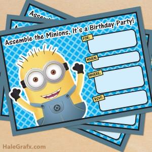 Free Printable Minion invitations