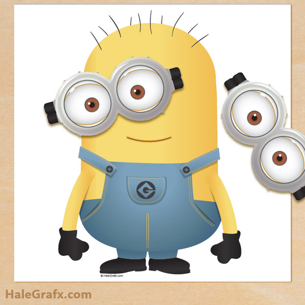 free despicable me pin the goggles on the minion printable. Black Bedroom Furniture Sets. Home Design Ideas