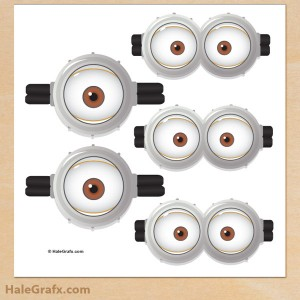 Free Printable Pin the goggles on the minion