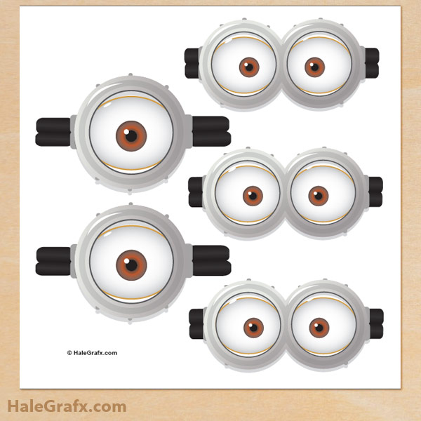 photograph about Minion Goggle Printable titled Absolutely free Despicable Me Pin the Goggles upon the Minion Printable