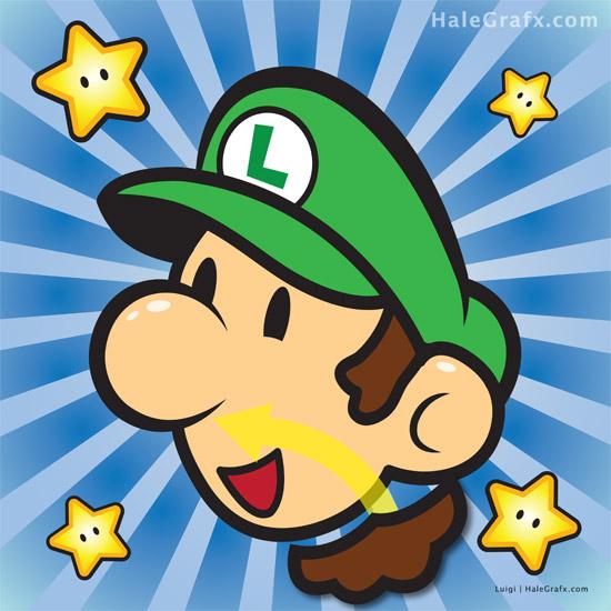 Pin the Mustache on Super Mario Bros. - Luigi