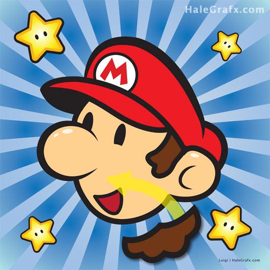 Pin the Mustache on Super Mario Bros. - Mario