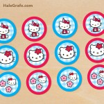 FREE Printable Hello Kitty Cupcake Toppers