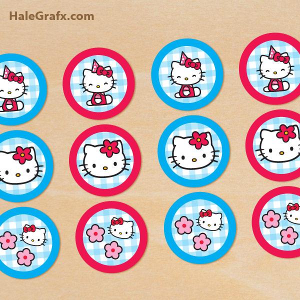 Free Printable Hello Kitty Cupcake Toppers
