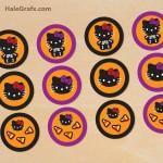 FREE Printable Halloween Hello Kitty Cupcake Toppers