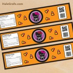 FREE Printable Halloween Hello Kitty Water Bottle Labels