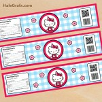 FREE Printable Hello Kitty Water Bottle Labels