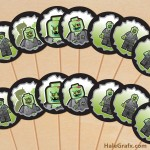 FREE Printable LEGO Zombie Cupcake Toppers